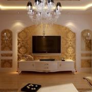 欧式客厅华丽背景墙