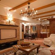 别墅美式小客厅欣赏