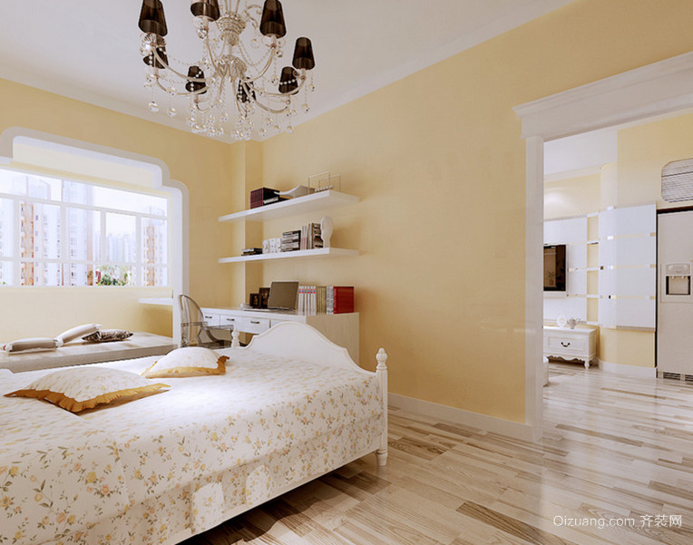 110平米清新田园风格卧室装修墙纸大全