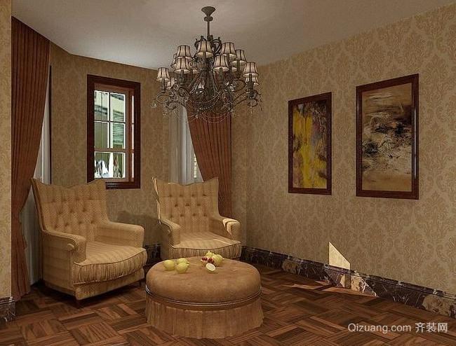 100平米美式古典韵味客厅装修效果图