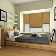 现代单身公寓榻榻米卧室