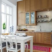 开放式厨房实木橱柜