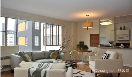 现代简约公寓装修效果图 恬静淡雅