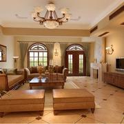 别墅美式窗帘设计