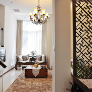 新中式时尚复式楼客厅