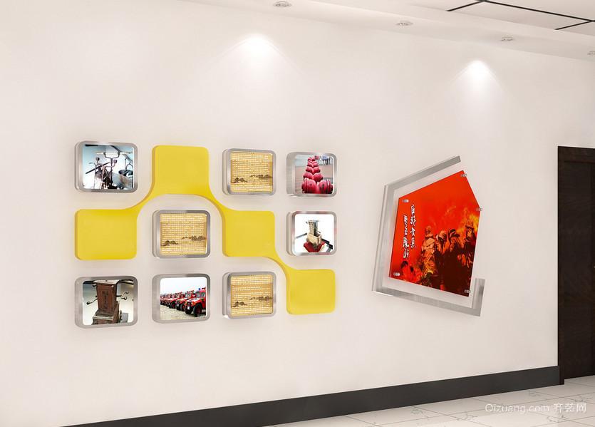 大户型公司大厅形象墙吊顶设计装修效果图