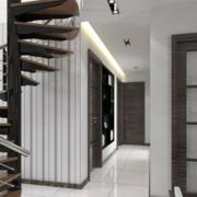 深色调复式楼楼梯