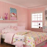 儿童房粉色条纹壁纸