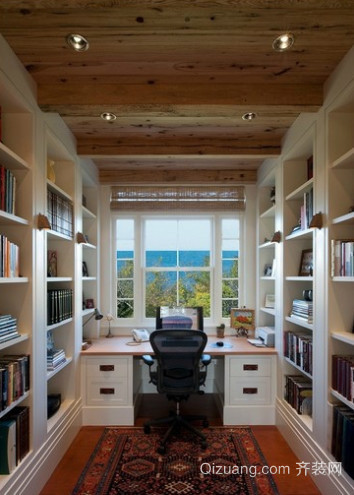 简约书房生态木吊顶装修效果图