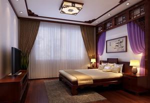 大户型美式风格卧室装修墙纸大全