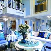 浪漫蓝色别墅楼梯