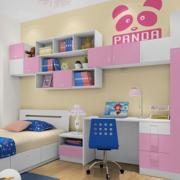 儿童房墙上置物柜