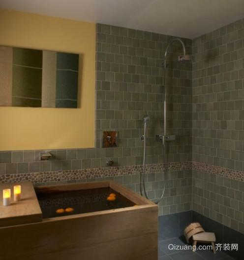 现代简约风格日式浴室装修效果图
