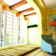 别墅阳台生态木地板