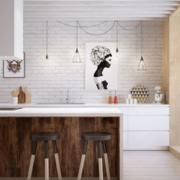 清新型厨房吧台装修