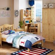 儿童房原木家具