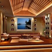 温馨东南亚客厅楼梯