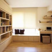 自然风格书柜装修设计