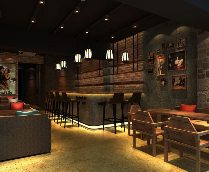 50平米 现代简约风格 小 咖啡店 装修效果图 齐装