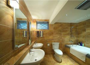 2015别墅卫生间瓷砖效果图