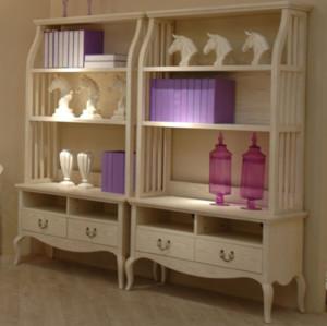 70平米单身公寓美式客厅置物架装修效果图