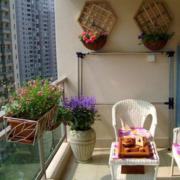 中式风格阳台装修图片