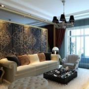 新中式客厅飘窗