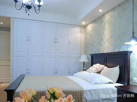 现代简易卧室实木衣柜装修效果图