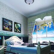 地中海风格卧室飘窗