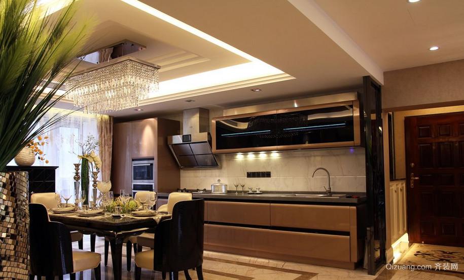 90平米大户型欧式开放式厨房吊顶装修效果图