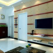 小户型瓷砖电视背景墙