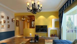 充满魅力的地中海风格客厅飘窗装修设计效果图