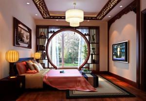 全新中式三室一厅卧室装修效果图