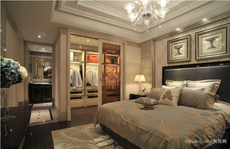 特地为您设计的90平米欧式卧室衣帽间装修效果图