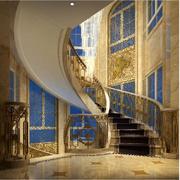 奢华别墅欧式旋转楼梯