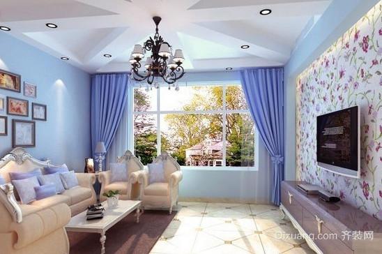 2015地中海风格精美客厅装修效果图