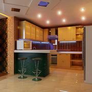 大户型厨房吧台设计
