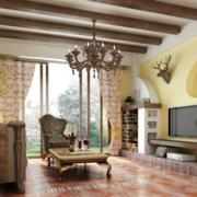 小户型客厅生态木吊顶