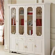 白色调书柜设计图片