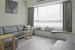 时尚公寓客厅飘窗装修设计效果图