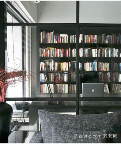中式小户型书柜效果图