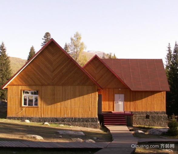 中式木屋迷人别墅装修设计效果图