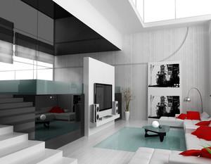 2015美轮美奂的欧式风格大户型错层客厅设计效果图
