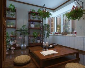 东南亚风格露台花园设计装修效果图