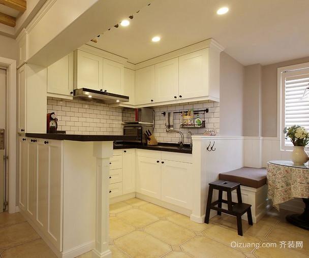 温馨小户型开放式厨房装修效果图