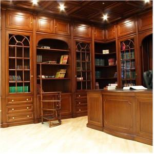 美式小户型书柜效果图