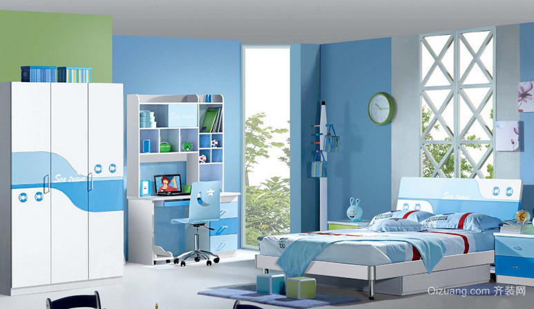 120㎡现代温馨的儿童房设计装修效果图欣赏