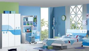 蓝色清爽的儿童房