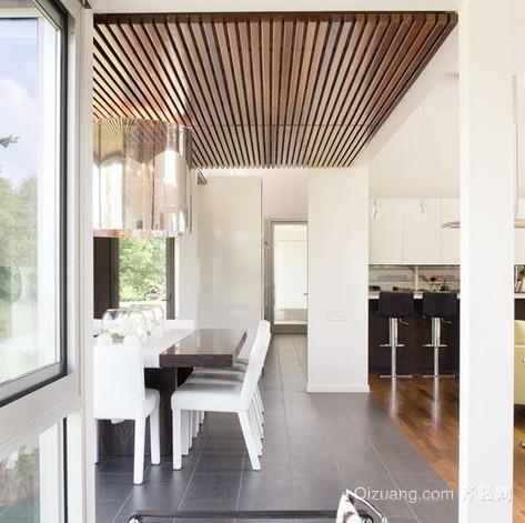 新颖餐厅生态木吊顶装修效果图