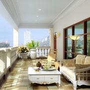 阳台木地板设计图片